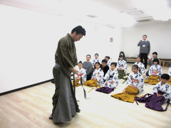 袴を着ける
